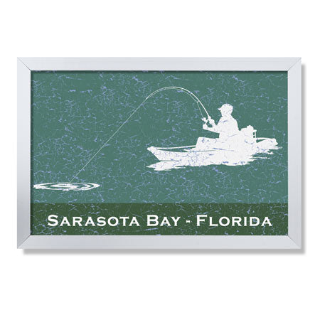 Personalized Framed Kayak Sign - Fishing