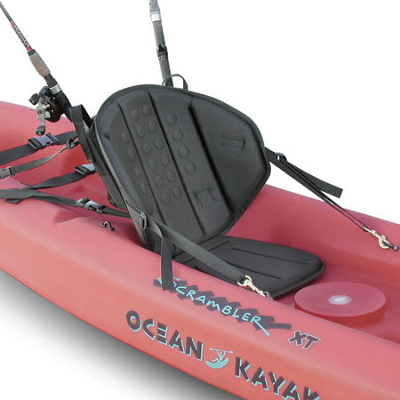 Tall Back Fishing Molded Foam Kayak Seat, Sit On Top Kayak Seat with Fishing Pack