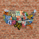 Dibond Aluminum USA License Plate Map Sign Metal Sign Home Decor Wall Art CNC Cut Patriot Sign Holiday Gift