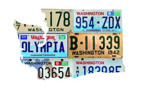 WASHINGTON License Plate Plasma Cut Map Sign, Wall Art Garage Art Rustic Sign Patriotic Sign Holiday Gift
