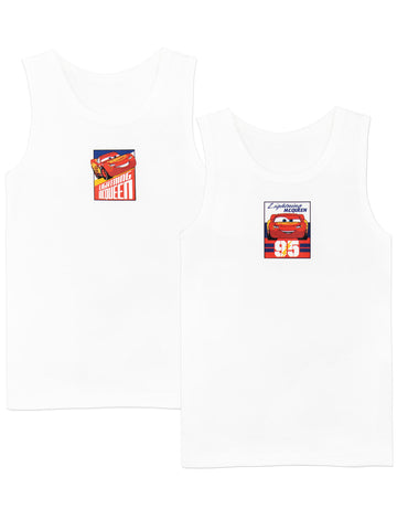 Disney Cars Vest Tops - Pack of 2