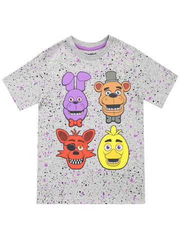 Five Nights At Freddy's T- Shirt - Freddy, Bonnie, Chica & Rockstar Foxy