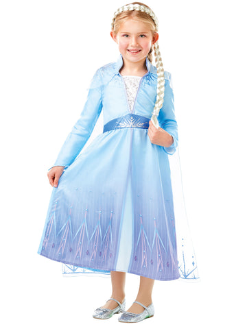 Disney Frozen Elsa Fancy Up Costume with Braid Set
