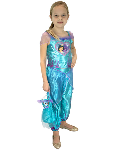 Aladdin Fancy Dress Up Costume & Bag - Jasmine