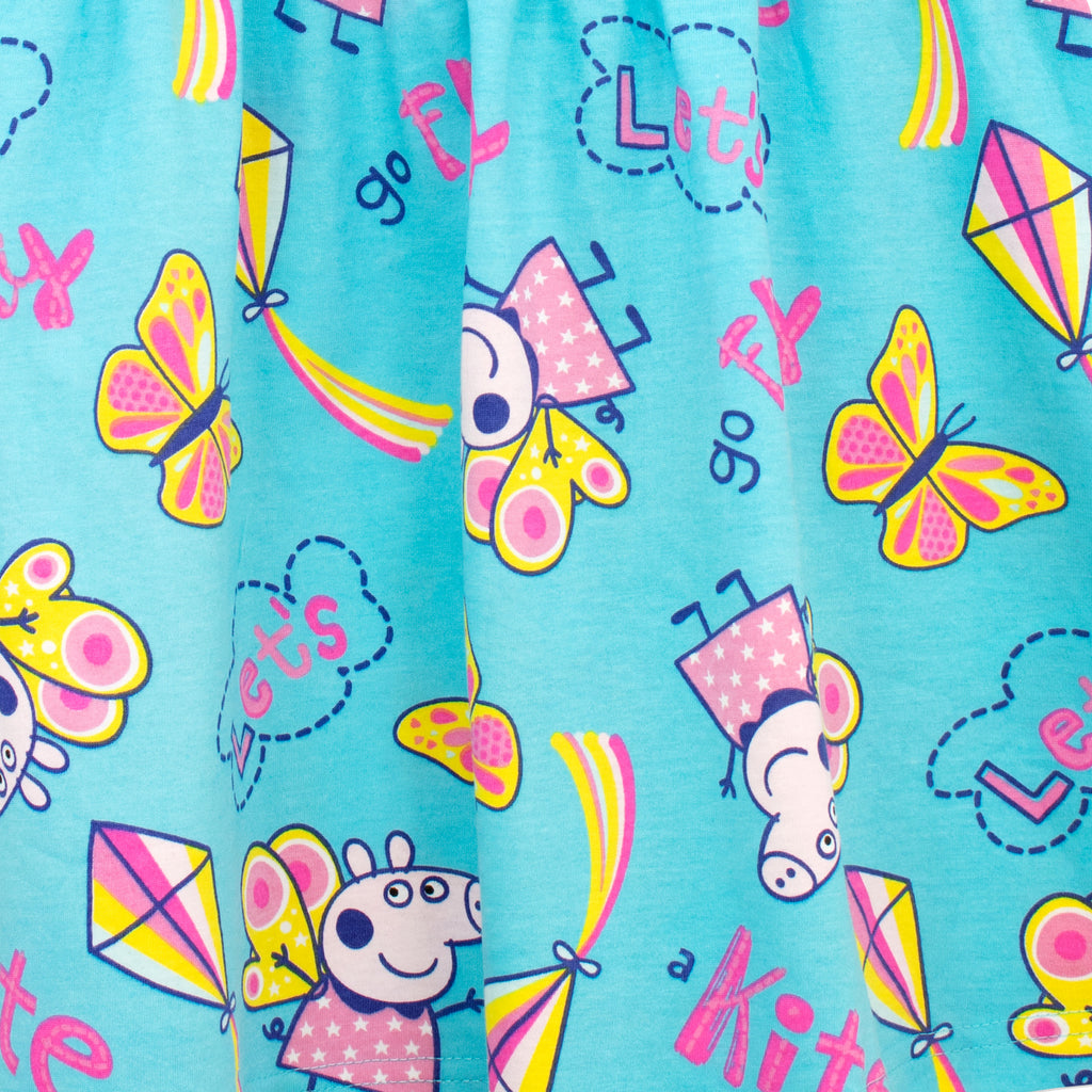 Girls Swimming Costume and Matching Bag with  Peppa Pig Detail in Blue or Pink