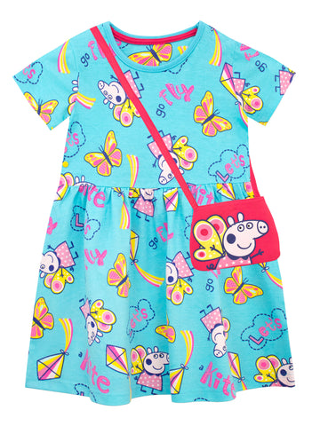 Peppa Pig Dress and Bag Set