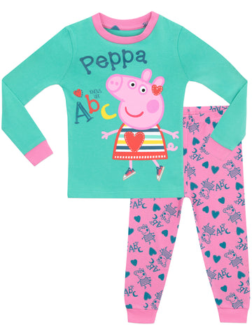 Girls Peppa Pig Pajama Set
