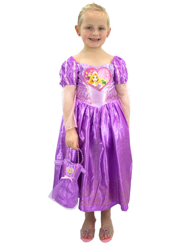 Rapunzel Fancy Dress Up Costume & Bag