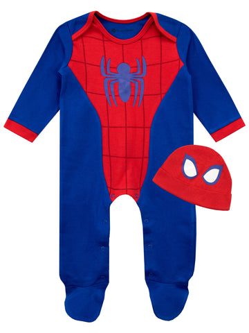 Baby Spiderman Footie and Hat Set