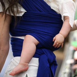 Dark Blue Bamboo Boba Baby Wrap Style Baby Carrier