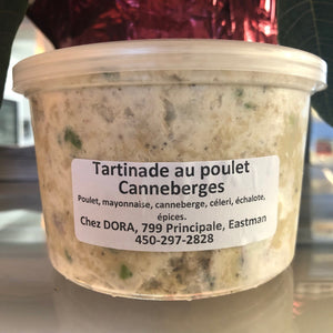 TARTINADE au POULET + CANNEBERGES