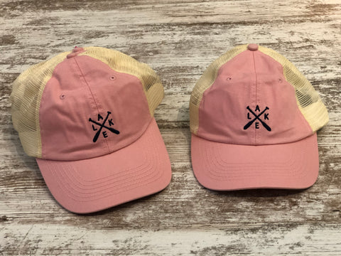 Lake Paddles Hat  (Pink or Navy Blue)