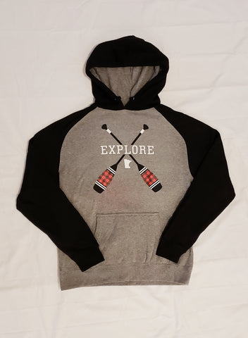 Explore Plaid Paddle Hoodie