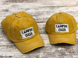 Camping Queen hat (Distressed black or Mustard)