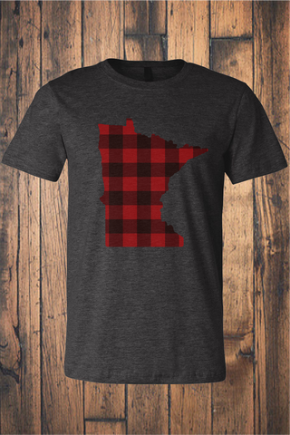 Buffalo Plaid MN Jersey Tee