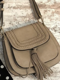 Western cross body bag with tassel (multiple colors)