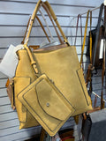 Shoulder bag, Cross body, & Wristlet- Black or Mustard