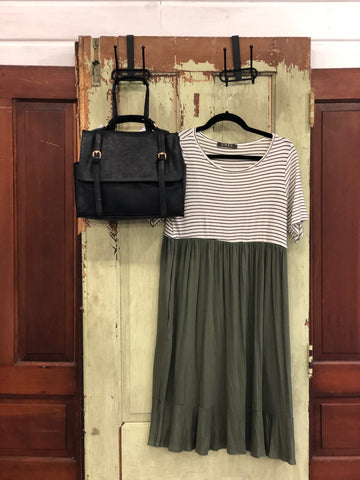 Stripe & Solid Pocket Dress