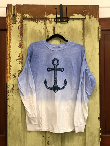 Long sleeve anchor t-shirt -2 color choices