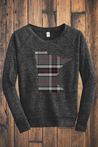 Minnesota Mixed Plaid Eco-Jersey Pullover