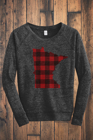 Buffalo Plaid MN Eco-Jersey Pullover