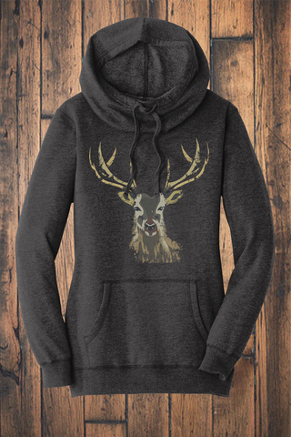 Camo Deer Fleece Sweatshirt