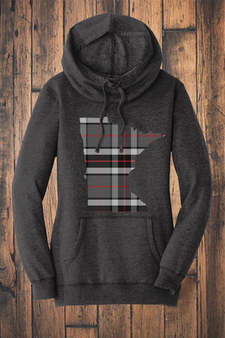 Minnesota Mixed Plaid Fleece Sweatshirt