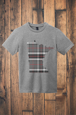 Minnesota Mixed Plaid Tee