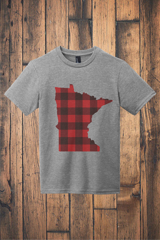 Buffalo Plaid MN Tee