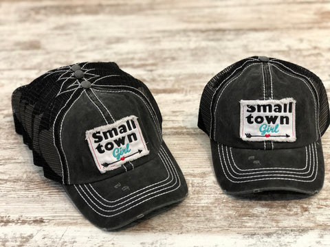 Small Town Girl Trucker Cap (Grey/Black or Grey/White)