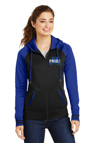 Ladies Sport-Wick Varsity Fleece Full-Zip Hooded Jacket