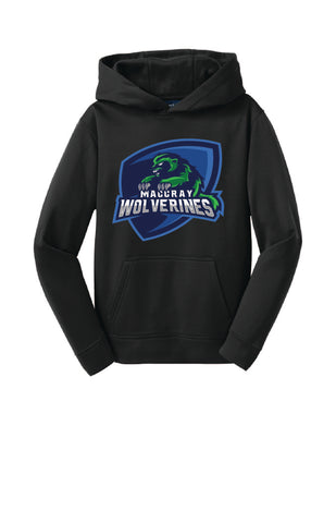 Youth Sport-Wick  Fleece Hooded Pullover - Wolverine