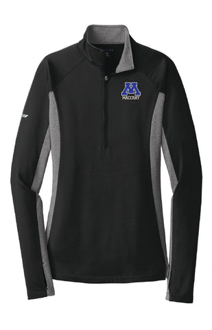 Ladies Sport-Wick Stretch Contrast 1/2 Zip Pullover