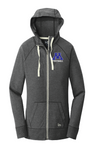 Ladies Sueded Cotton Blend Full Zip Hoodie