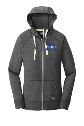Ladies Sueded Cotton Zip Up