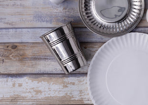 "Stainless Steel ""Paper"" Cups- Set of Four"