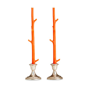 Faux Bois Candles (Set of 2) by Stick Candles