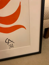 Alexander Calder color lithograph c. 1974, framed