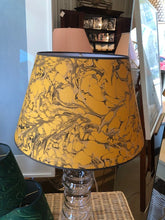 Hand-Marbelized Paper Lampshades - Yellow Stone