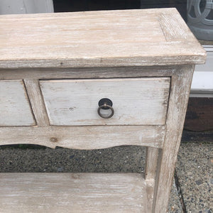 Console Table with Four Drawers and Shelf