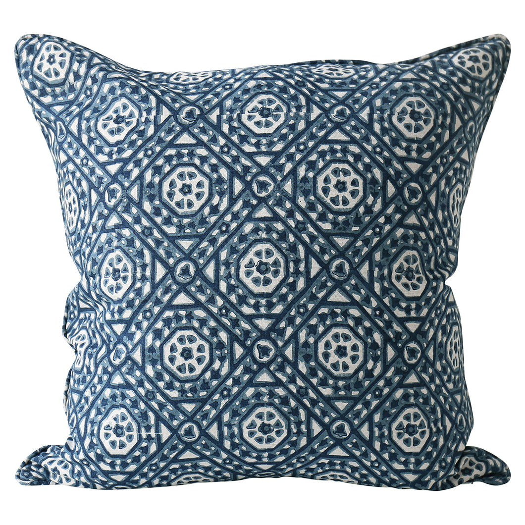 Jaisalmer Denim Linen Cushion 22