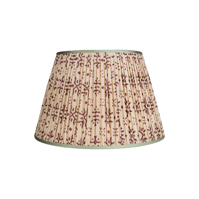 Penny Morrison Lampshade - Cream & Plum with Mint Trim 13