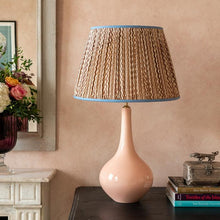 Pale Pink Teardrop Ceramic Lamp Base by Penny Morrison