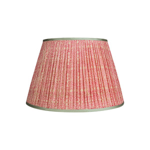 "Penny Morrison Lampshade - Pink & White Floral with Mint Trim  6"" Top x 12"" Bottom x 8"" Slant"