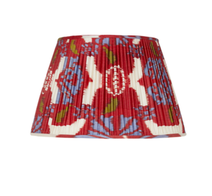 Red Silk Ikat Lampshade by Rosanna Lonsdale