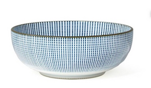 "Modern Blue & White -  6"" Bowls (Set of Four)"