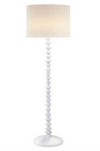 Contemporary Standing Lamp in a White Plaster Finish