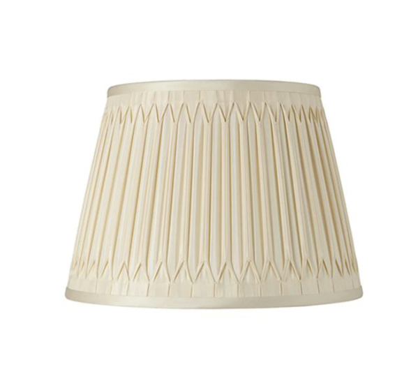 Smocked Silk Lampshade