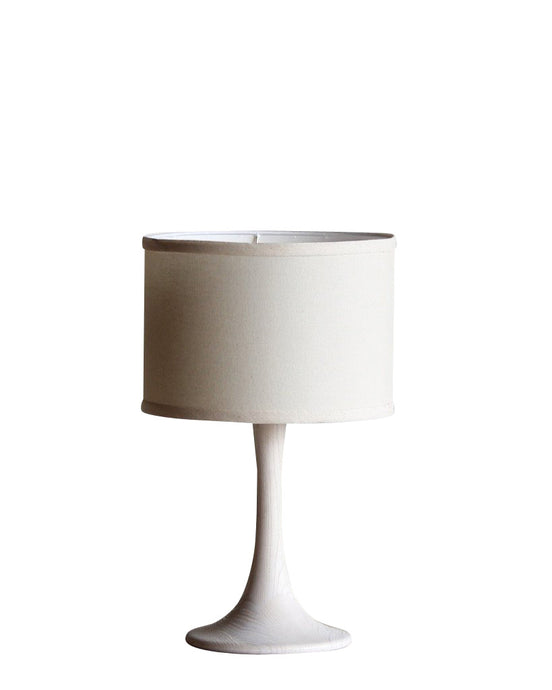 Trumpet Lamp in Whitewash (Small)