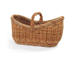 Woven Rattan Basket with One Handle